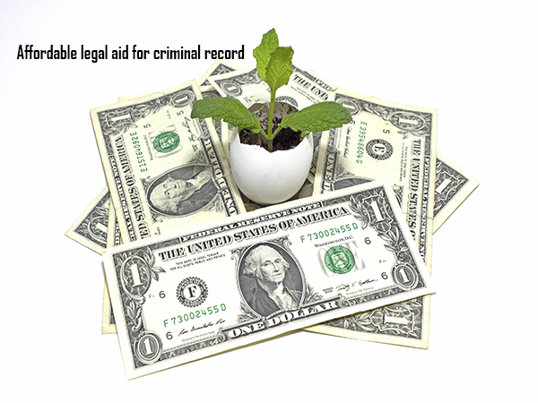 Affordable legal aid for criminal record