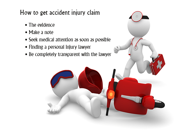 How to get accident injury claim