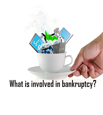 What is involved in filing for bankruptcy