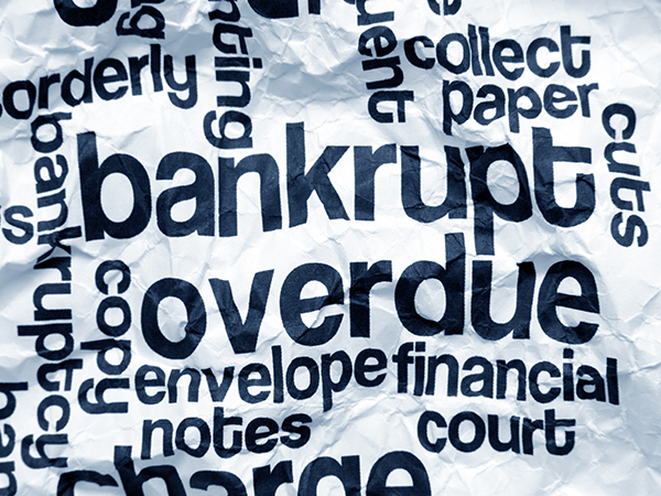 declaring yourself bankrupt?
