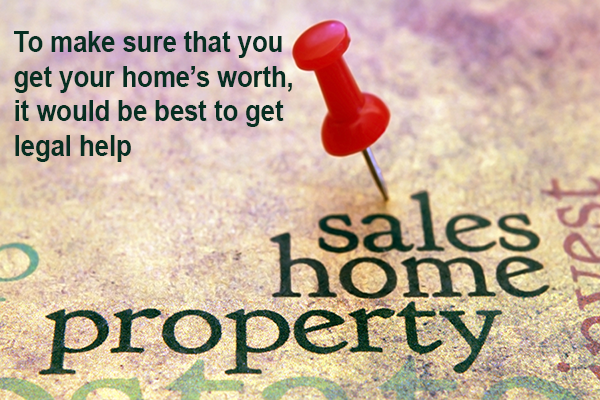 Legal help while selling your home